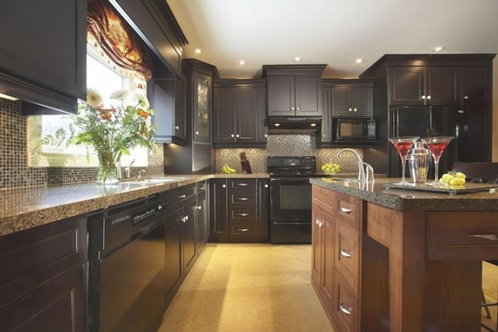 18 Kitchen Designs Incorporating Dark Rta Cabinets within Black Kitchen Cabinets Small Kitchen