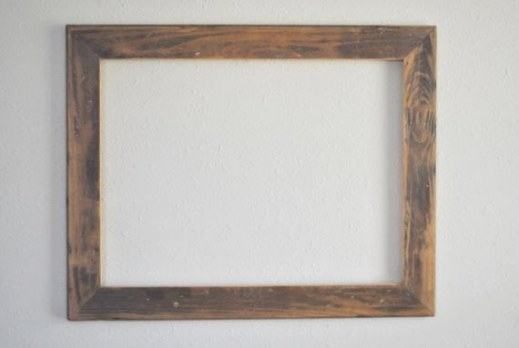 18 X 24 Worn Floor Board Wood Frame Reclaimed And throughout 18 X 24 Frame
