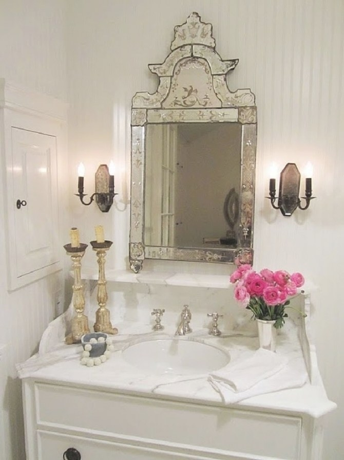 19 Best Powder Room - French Country Images On Pinterest throughout Pics Of Small Bathrooms