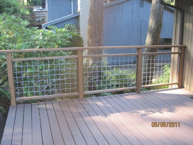 19 Best Wire Deck Railing Images On Pinterest | Dog Fence throughout Hog Wire Deck Railing