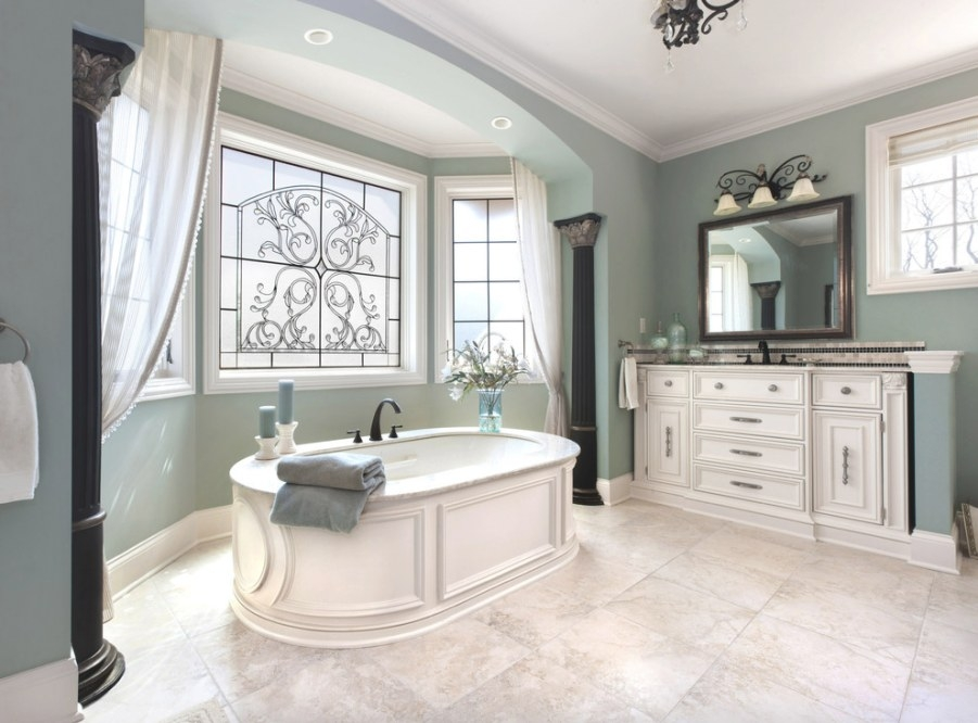 19 Inspiring Photos Of Sage Green Paint - Djenne Homes | 47017 intended for Green And Gray Bathroom