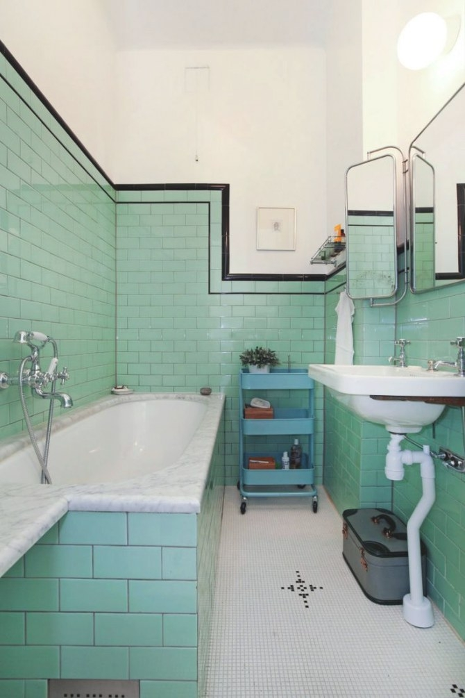 197 Best Save The Blue Bathroom: Mid-Century Bathroom Redo within Vintage Blue Tile Bathroom