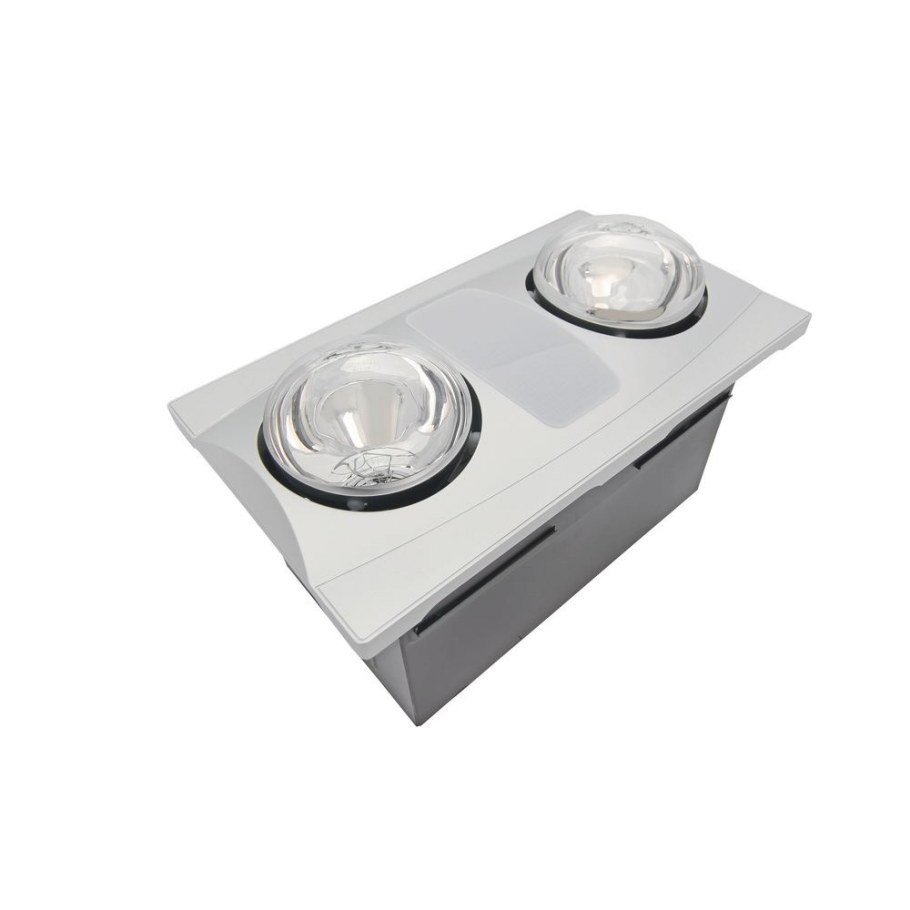 2-Bulb 80 Cfm Ceiling Bathroom Exhaust Fan With Light And intended for Heat Lamps In Bathrooms