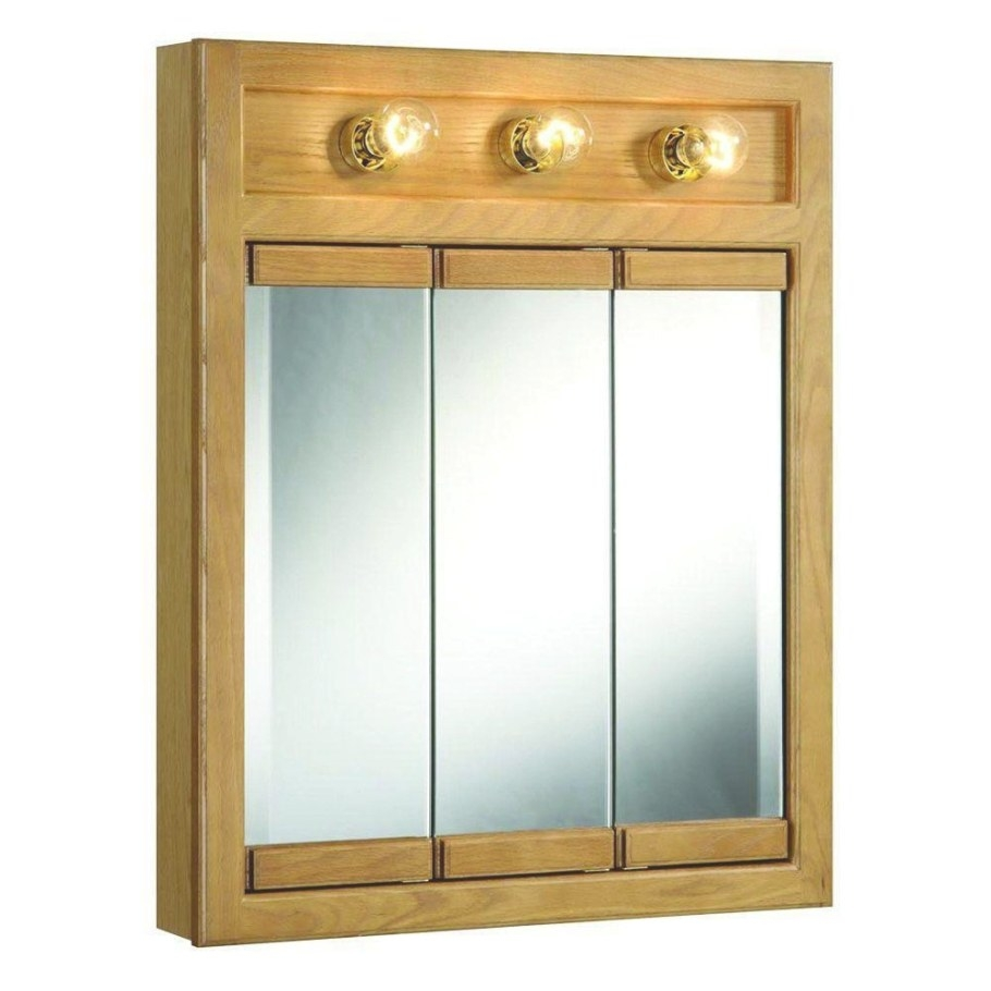 20 Collection Of 3 Door Medicine Cabinets With Mirrors inside Medicine Cabinet With Lights