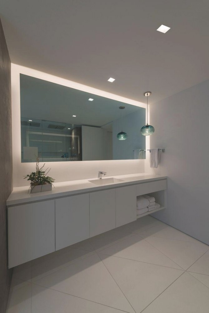 20 Photos Led Strip Lights For Bathroom Mirrors | Mirror Ideas in Led Lighted Mirrors Bathrooms