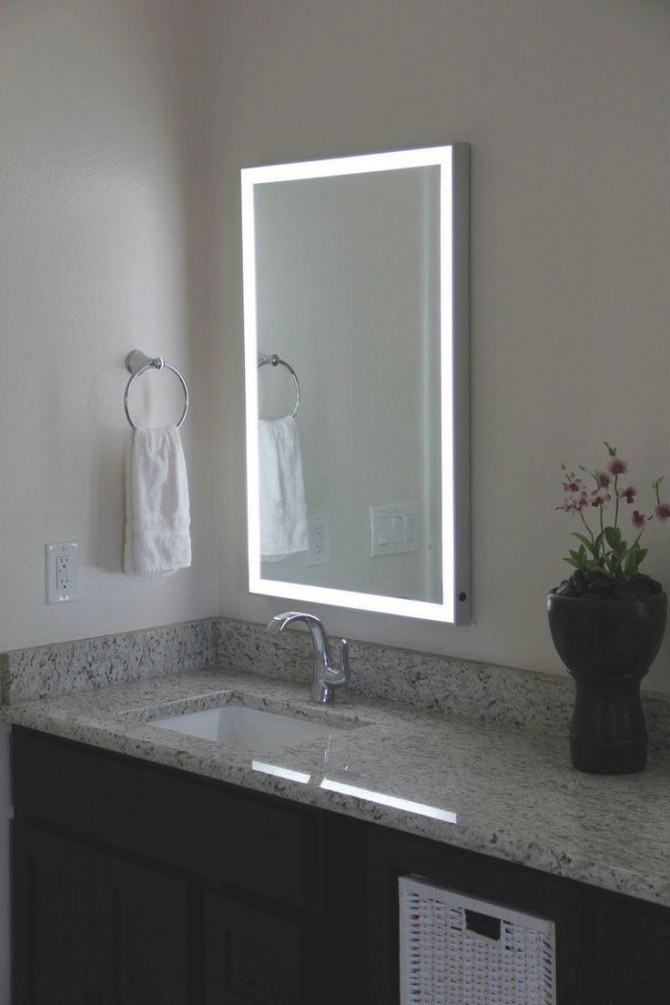 20 Photos Led Strip Lights For Bathroom Mirrors | Mirror Ideas pertaining to Led Lighted Mirrors Bathrooms