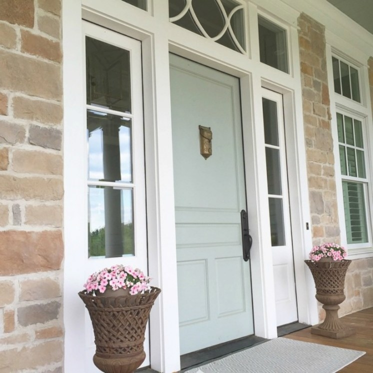 2018 Front Door Paint Colors: Popular Paint Colors Right intended for Benjamin Moore Sea Salt