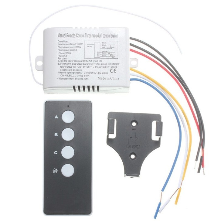 220V 3 Way Port On/Off Wireless Digital Rf Remote Control regarding Wireless 3 Way Switch