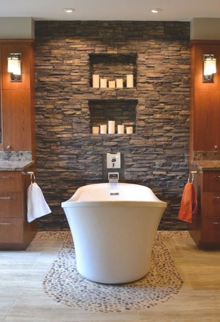 25 Amazing Stone Accent Walls regarding Accent Walls In Bathrooms
