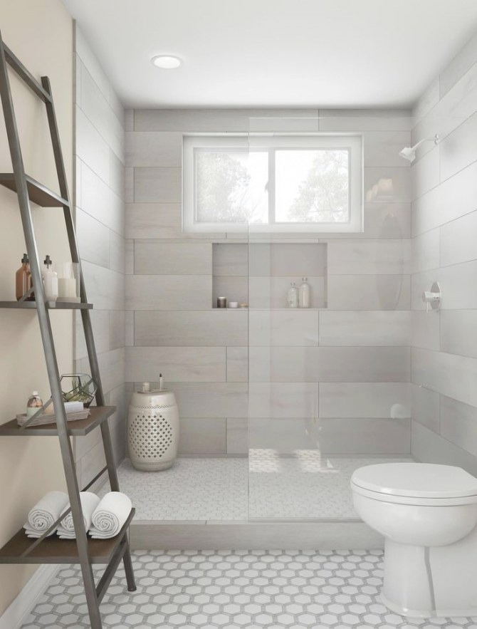 25 Awesome Farmhouse Bathroom Tile Shower Ideas (Walk In with Walk In Shower For Small Bathroom