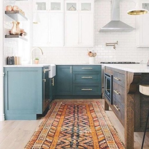 25 Contrasting Kitchen Island Ideas For A Statement - Digsdigs with Teal And White Kitchen