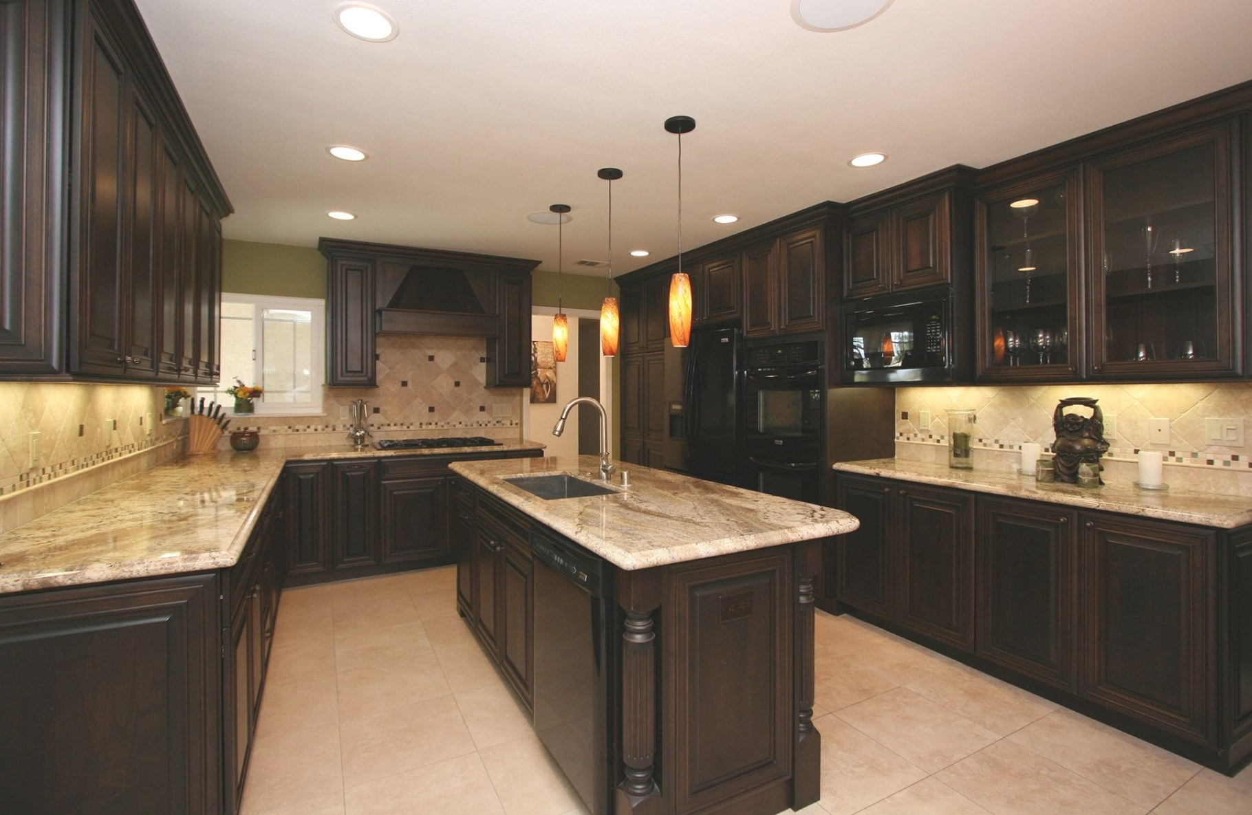 25 Cool Kitchen Design Trends 2015 | Black Kitchen pertaining to Dark Brown Kitchen Cabinets