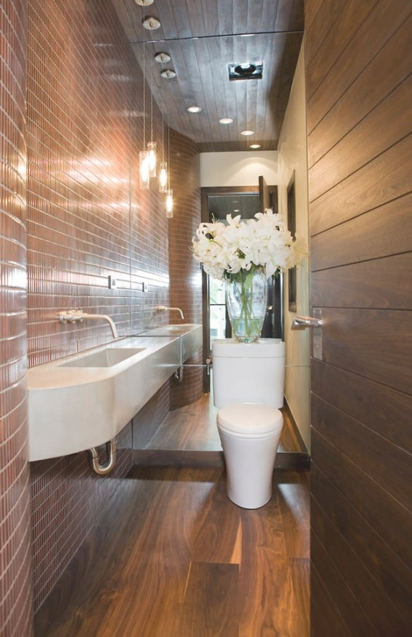 25+ Narrow Bathroom Designs, Decorating Ideas | Design pertaining to Bathtub Ideas For Small Bathrooms