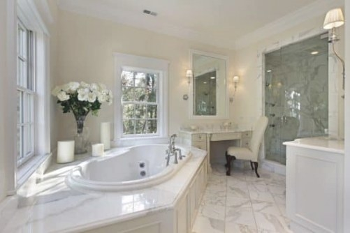 25 White Bathroom Ideas (Design Pictures) - Designing Idea throughout Cream And White Bathroom