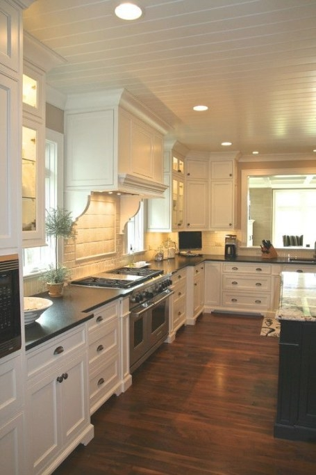 30 Spectacular White Kitchens With Dark Wood Floors - Home for Dark Hardwood Floors Kitchen