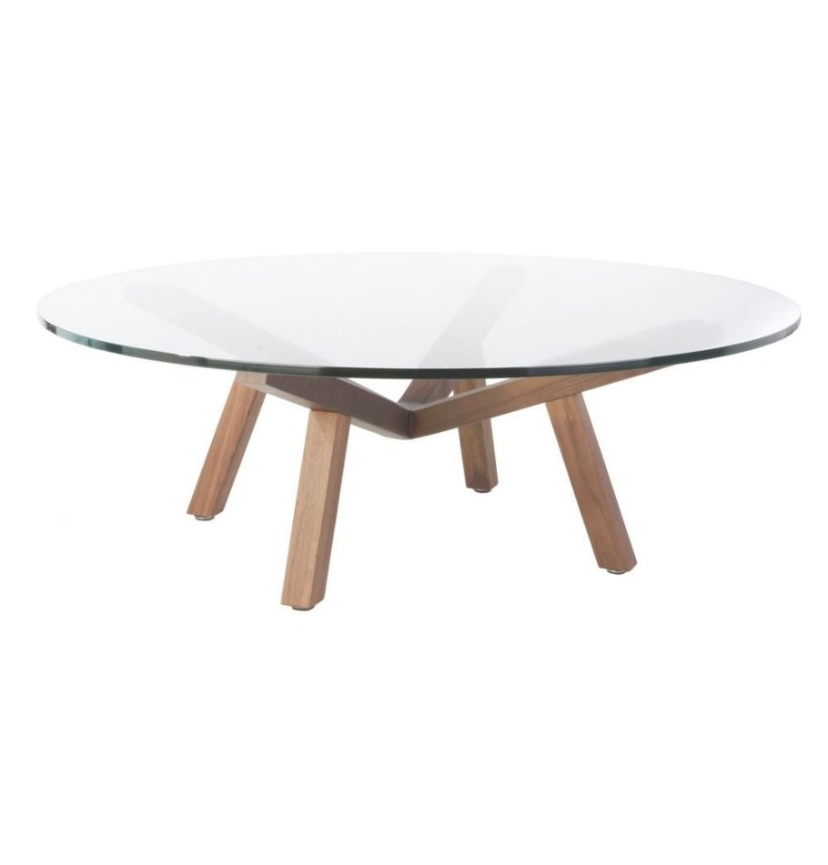 30 The Best Round Glass Coffee Tables intended for Wood And Glass Coffee Table