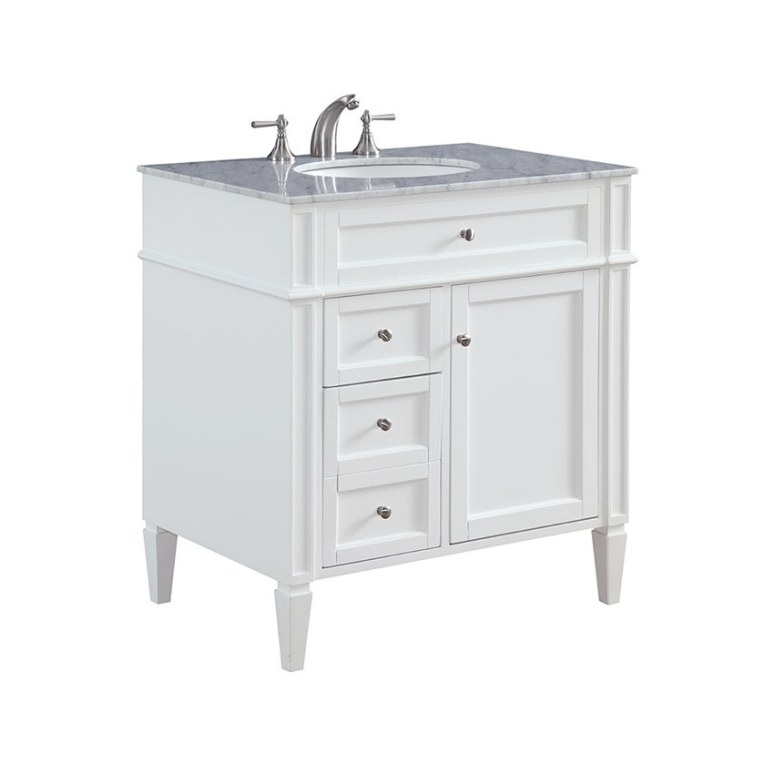 "32"" Bathroom Vanity Park Ave White Italian White Carrara pertaining to 32 Inch Bathroom Vanity"