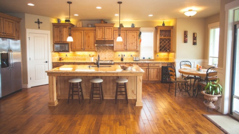 34 Kitchens With Dark Wood Floors (Pictures) with regard to Dark Hardwood Floors Kitchen