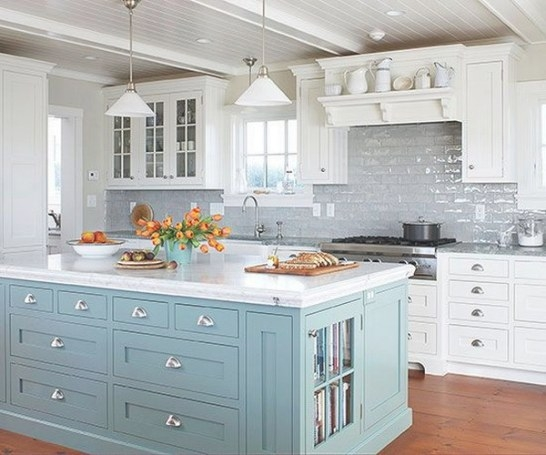 35 Beautiful Kitchen Backsplash Ideas - Hative intended for Blue And Grey Kitchen