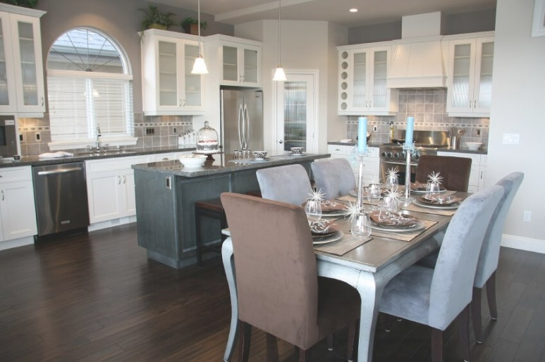 35 Striking White Kitchens With Dark Wood Floors (Pictures) in Dark Hardwood Floors Kitchen