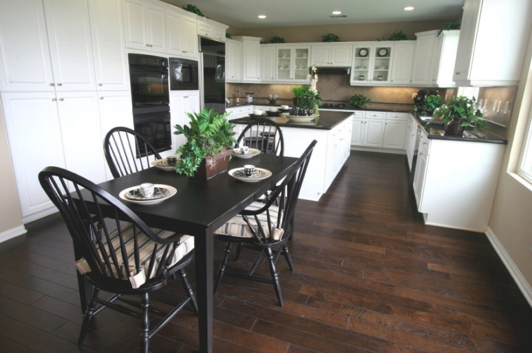 35 Striking White Kitchens With Dark Wood Floors (Pictures) throughout Dark Hardwood Floors Kitchen