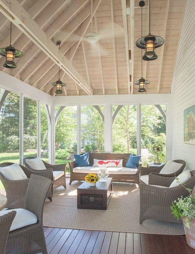 38 Amazingly Cozy And Relaxing Screened Porch Design Ideas intended for Screened In Porch Ideas