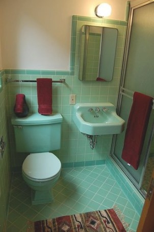 50'S Bathroom | Vintage Bathrooms, Retro Bathrooms pertaining to Vintage Blue Tile Bathroom
