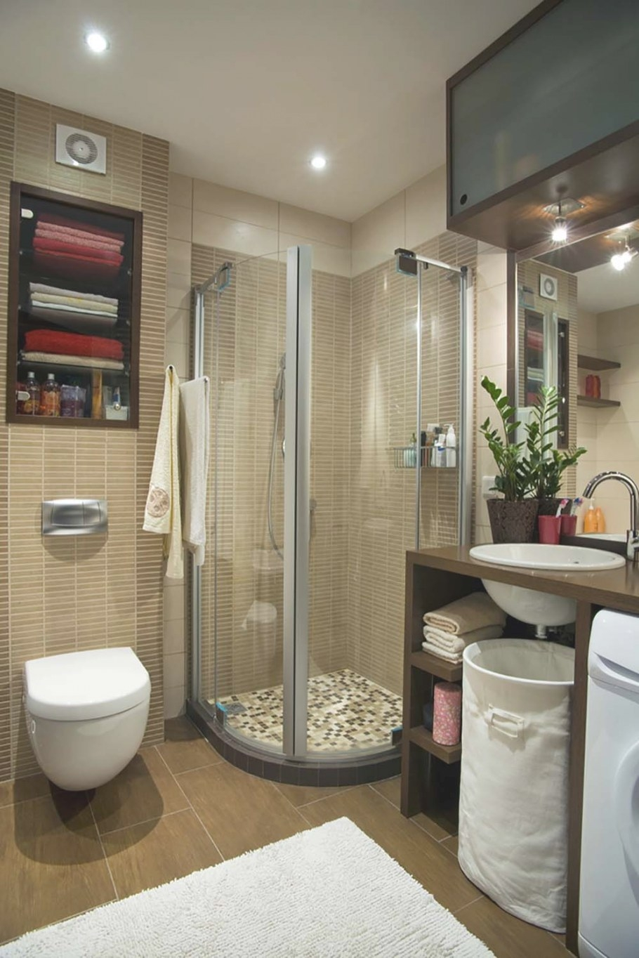 51 Beautiful And Functional Small Bathrooms within Images Of Small Bathrooms