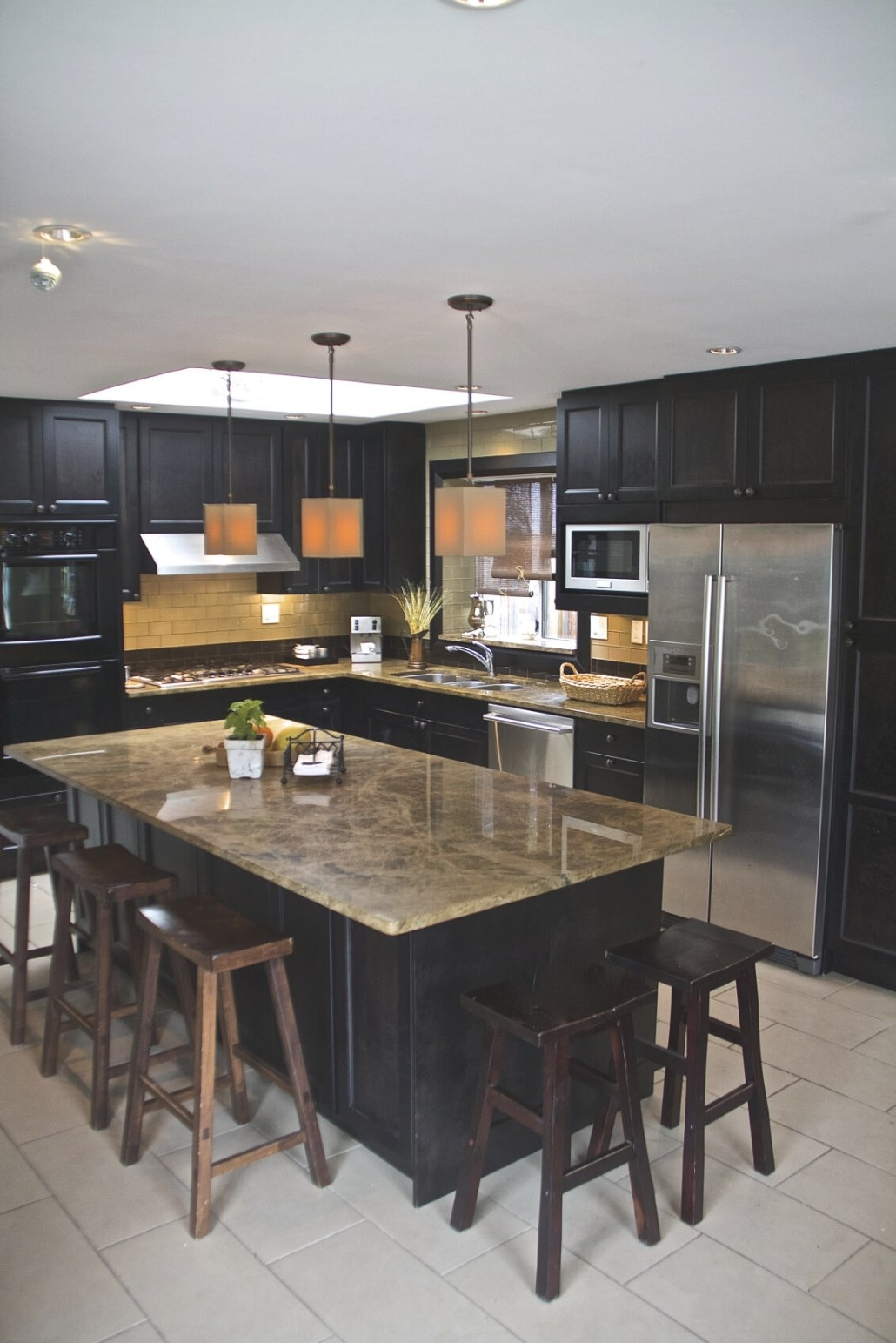 52 Dark Kitchens With Dark Wood And Black Kitchen Cabinets inside Black Kitchen Cabinets Small Kitchen