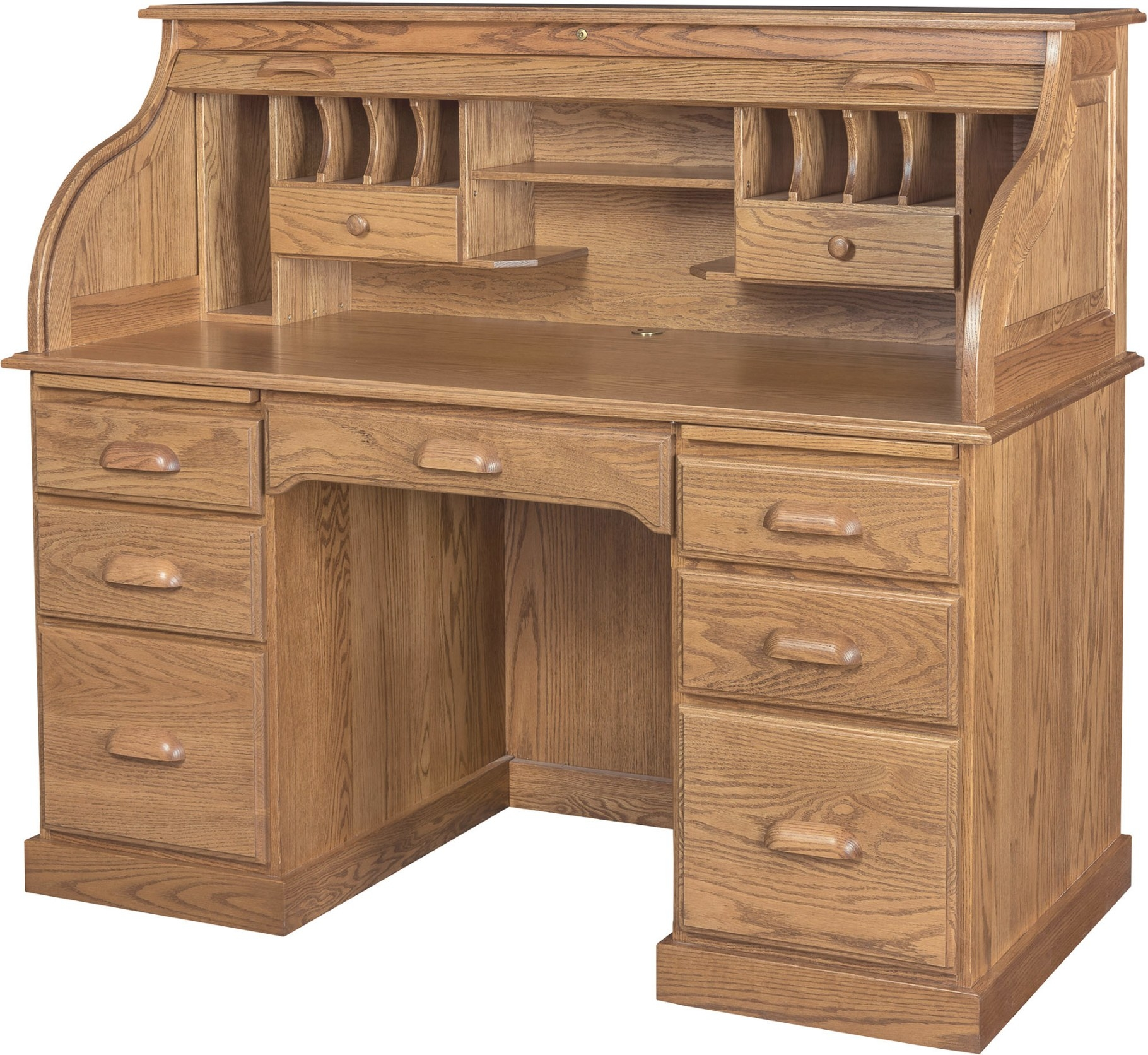 56 Inch Roll Top Desk With Hutch | 56 Inch Solid Wood Roll pertaining to Oak Roll Top Desk
