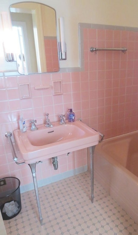 6 Colorful 1950 Vintage Bathrooms - The Comer House In for Pink And Gray Bathroom