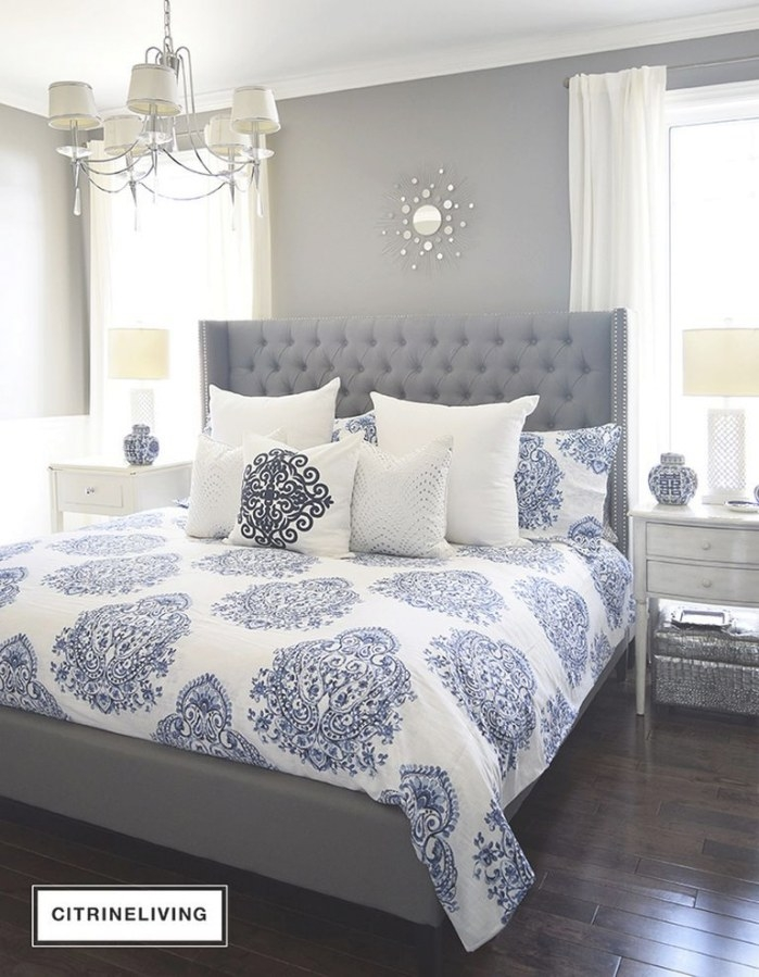 72 Blue And Gray Bedroom Ideas, Pictures, Remodel And regarding Blue Grey And White Bedroom