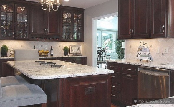 73+ Brown Backsplash Ideas - ( A Traditional? ) Classy pertaining to Dark Brown Kitchen Cabinets