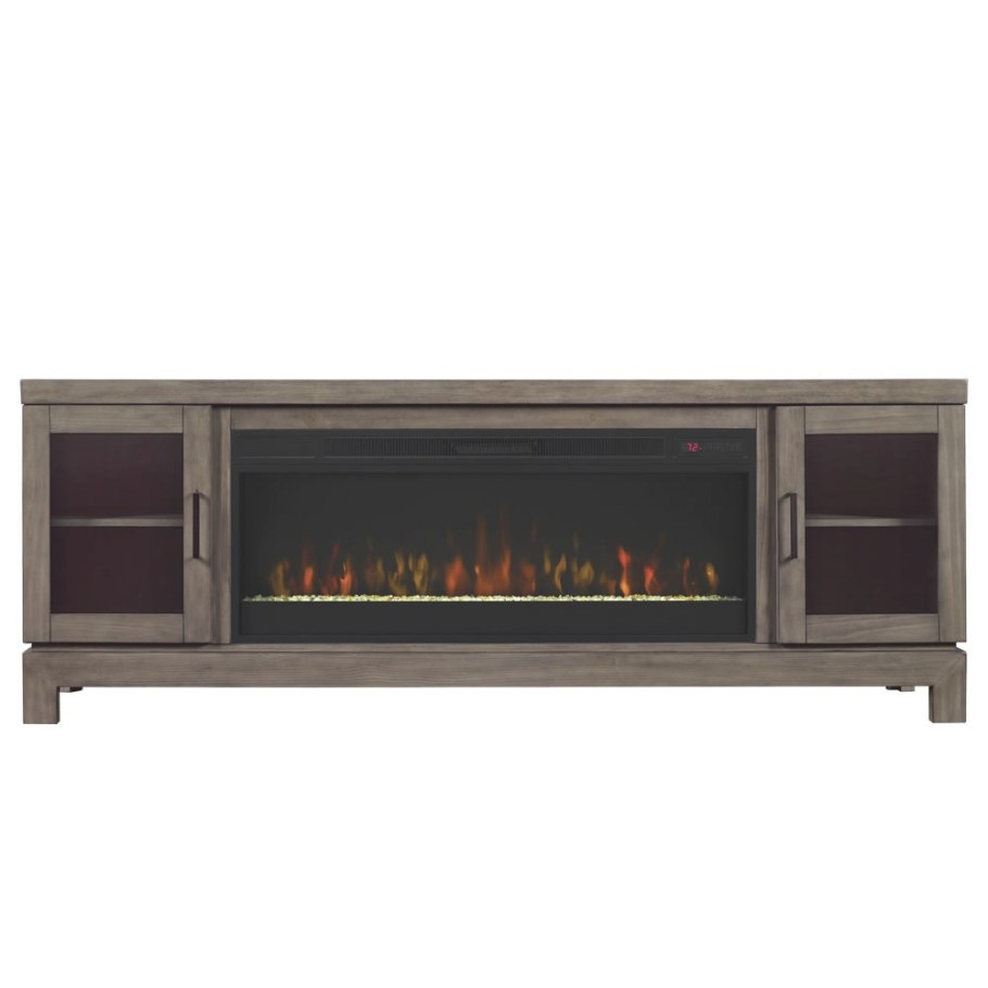 80 Inch Tv Stand With Fireplace - Smartvradar with 80 Inch Tv Stand