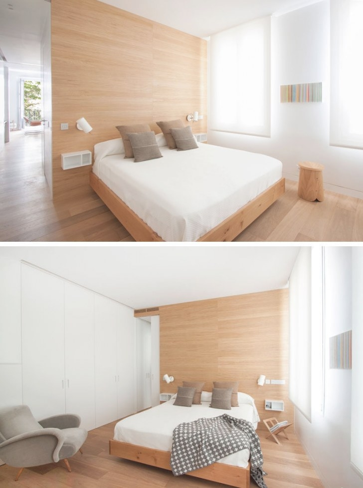 A Bright And Comfortable Apartment Interior Design In Madrid pertaining to White And Wood Bedroom