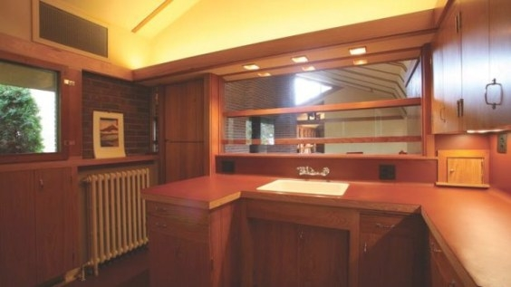 A Frank Lloyd Wright-Inspired Kitchen - Old House regarding Frank Lloyd Wright Kitchen