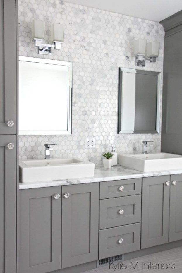 A Marble Inspired Ensuite Bathroom (Budget Friendly Too!) pertaining to Black And Gray Bathroom