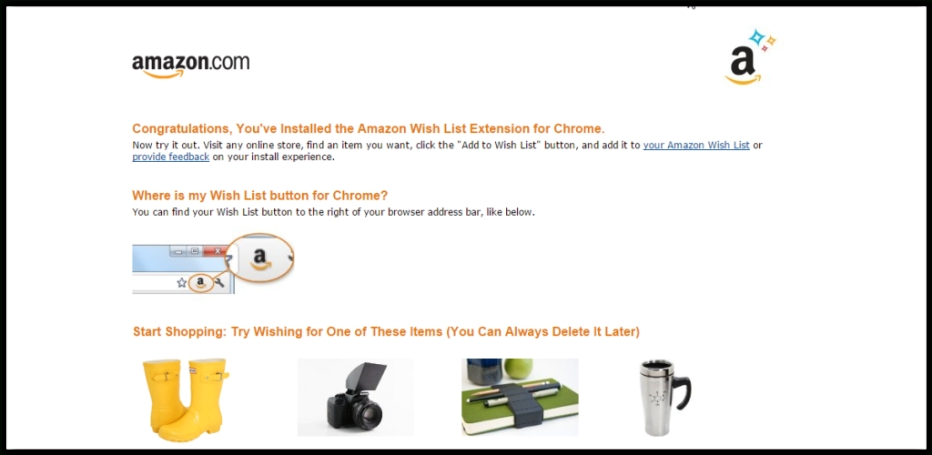 Add To Amazon Wish List - Extension Zone for Amazon Find A Wishlist
