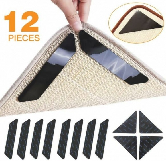 Aiflyme Rug Grippers, Rug Pad, 12 Pcs Renewable Carpet throughout Anchor Grip Rug Pad