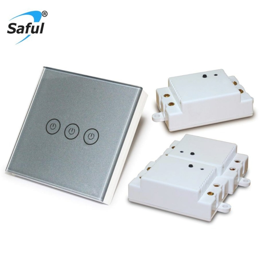 Aliexpress : Buy Saful Wireless Touch Light Switch regarding Wireless 3 Way Switch