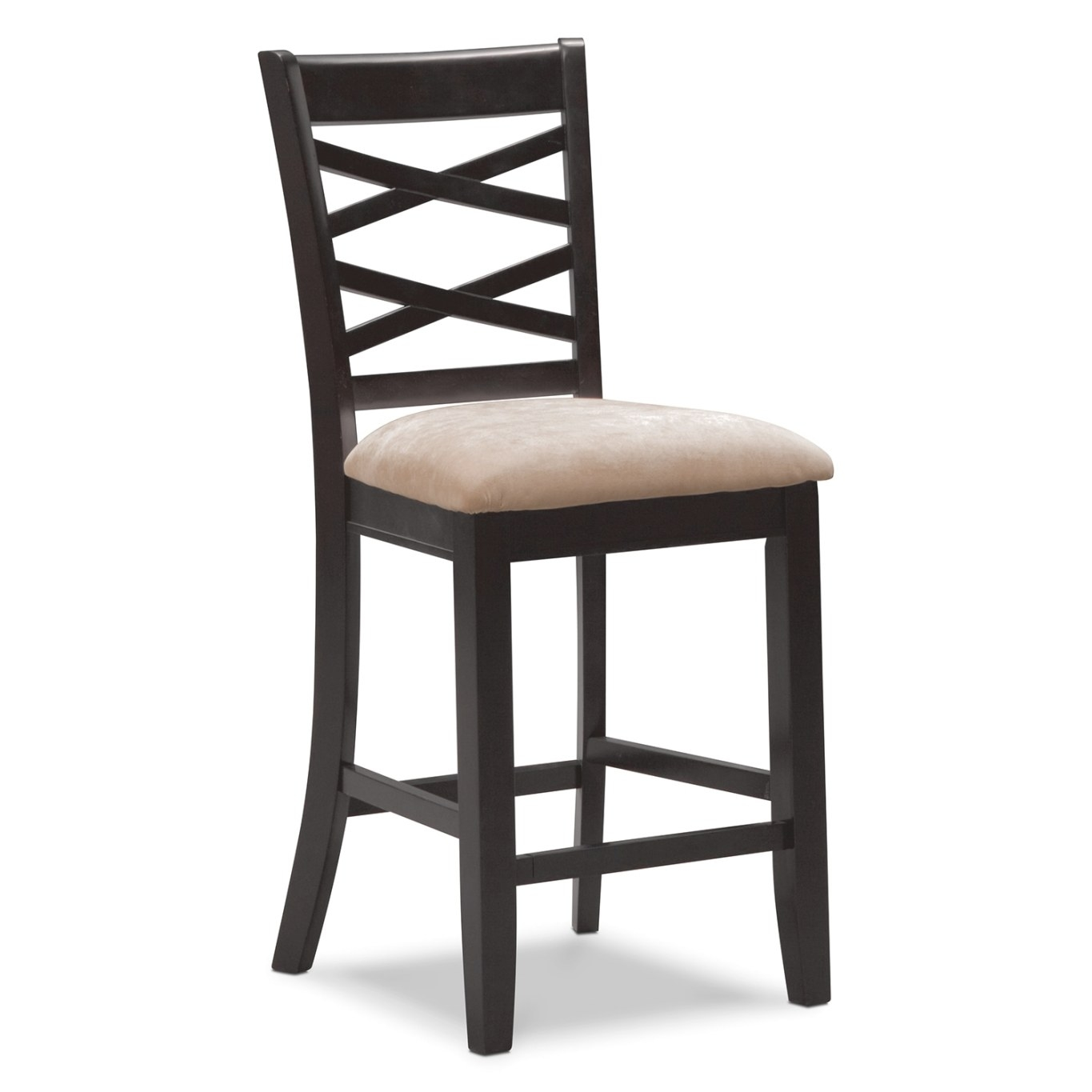 Americana Espresso Counter-Height Stool | Value City Furniture with Counter Height Bar Stools