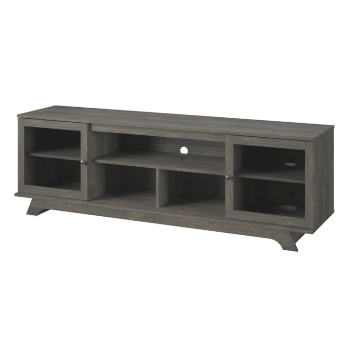 Ameriwood Home Englewood Tv Stand 80 Inch In Weathered Oak in 80 Inch Tv Stand