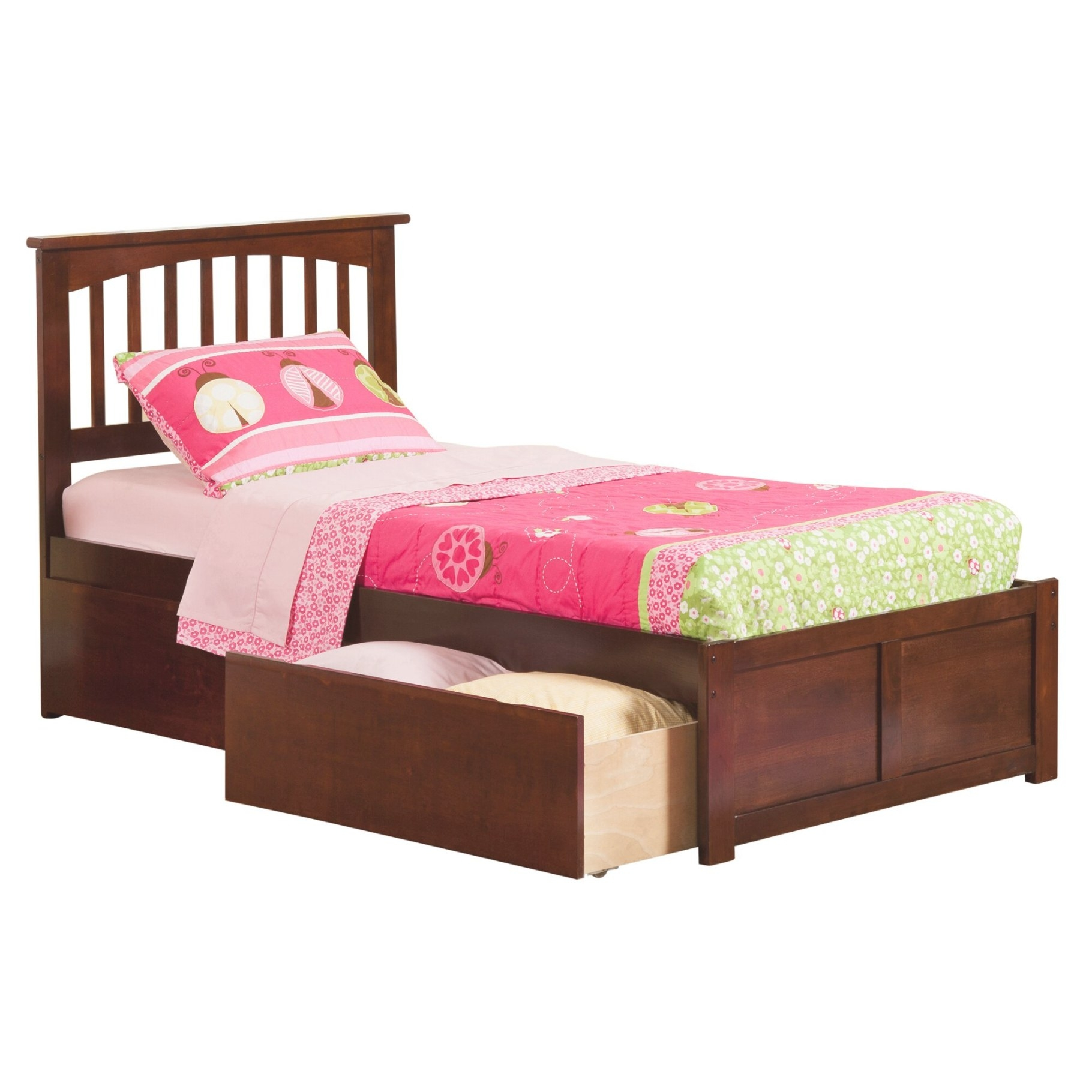 Andover Mills Conrad Extra Long Twin Slat Bed & Reviews in Extra Long Twin Bed