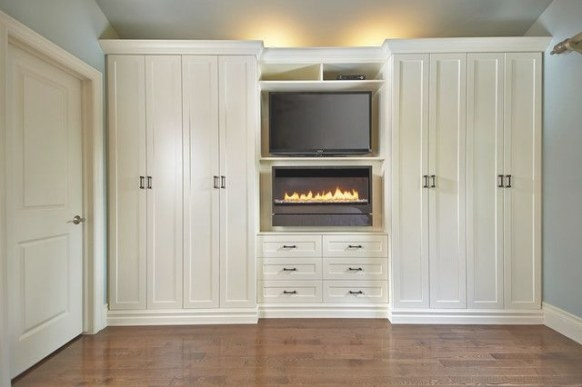 Antique White Wall Unit Contemporary Bedroom Toronto With throughout Wall Units For Bedroom