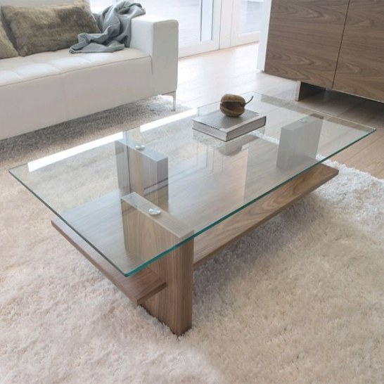 Antonello Italia Zen Glass Coffee Table | Contemporary within Wood And Glass Coffee Table