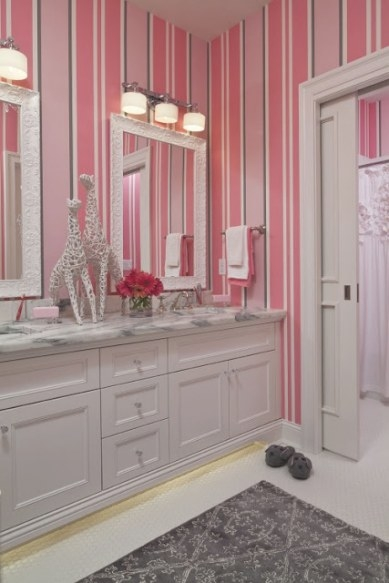 Ap:: Designs: February Color Scheme: Pink & Gray for Pink And Gray Bathroom