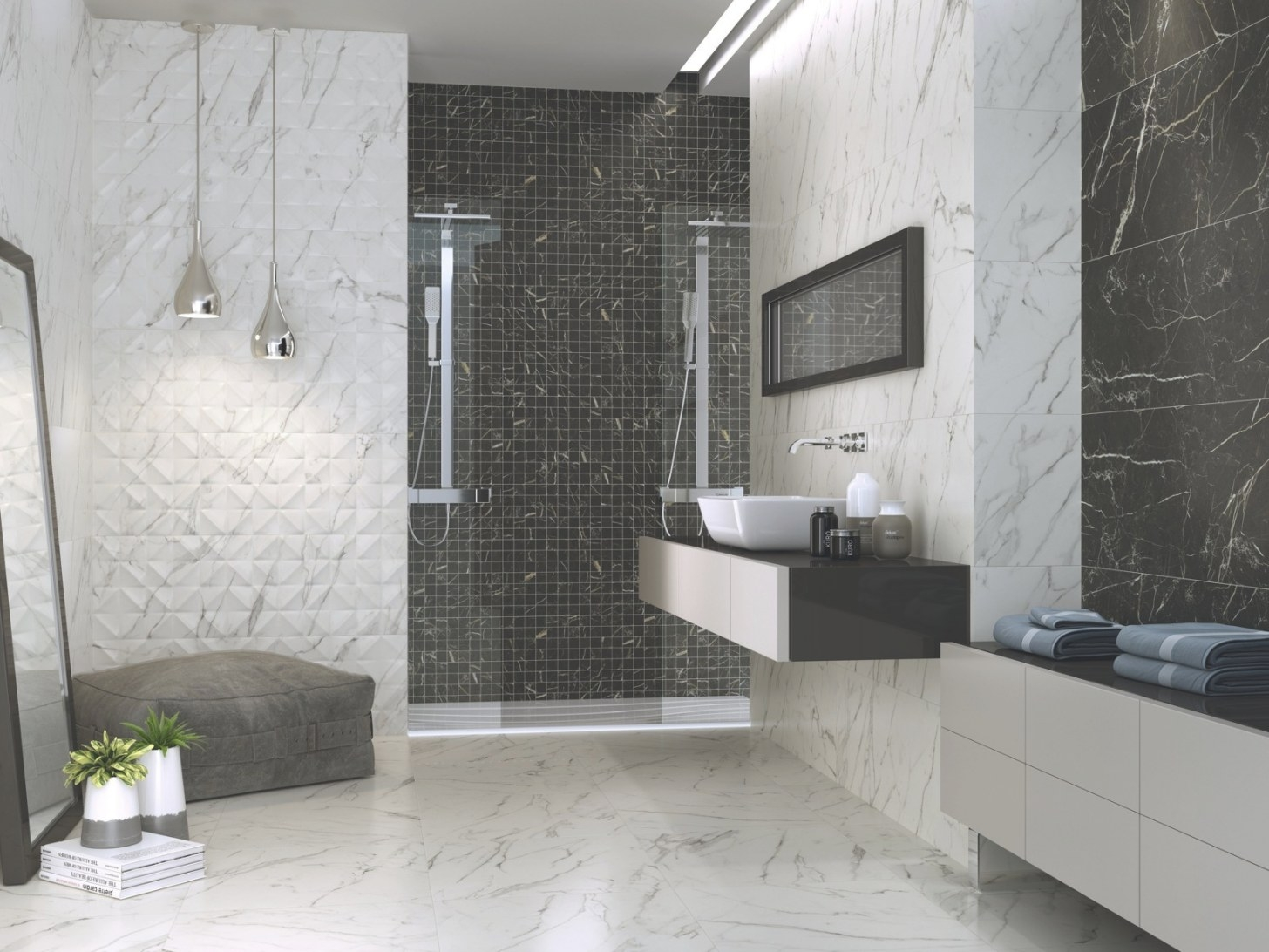 Apogeo White Marble Effect Matt 400 X 1200Mm - Wall Tiles within White Marble Tile Bathroom