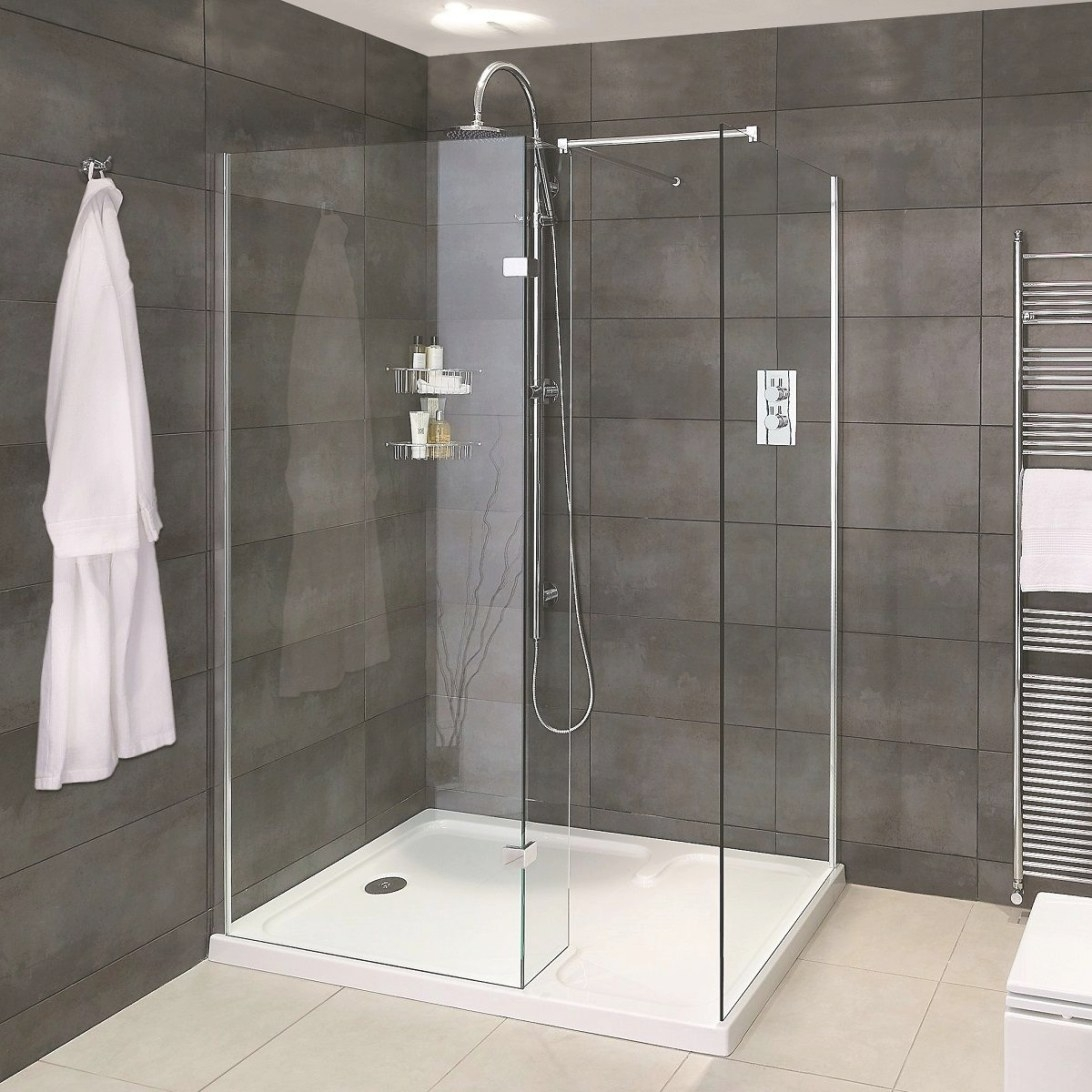 Aqata Spectra Sp425 Walk In Corner Shower - Uk Bathrooms with Walk In Shower For Small Bathroom
