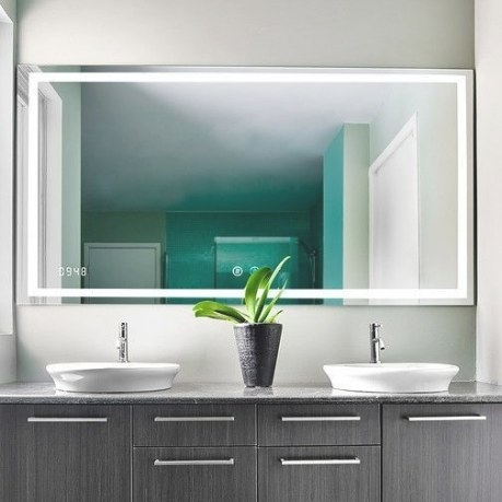 Aquadom Daytona Illuminated Bathroom Mirror | Dlaguna intended for Led Lighted Mirrors Bathrooms
