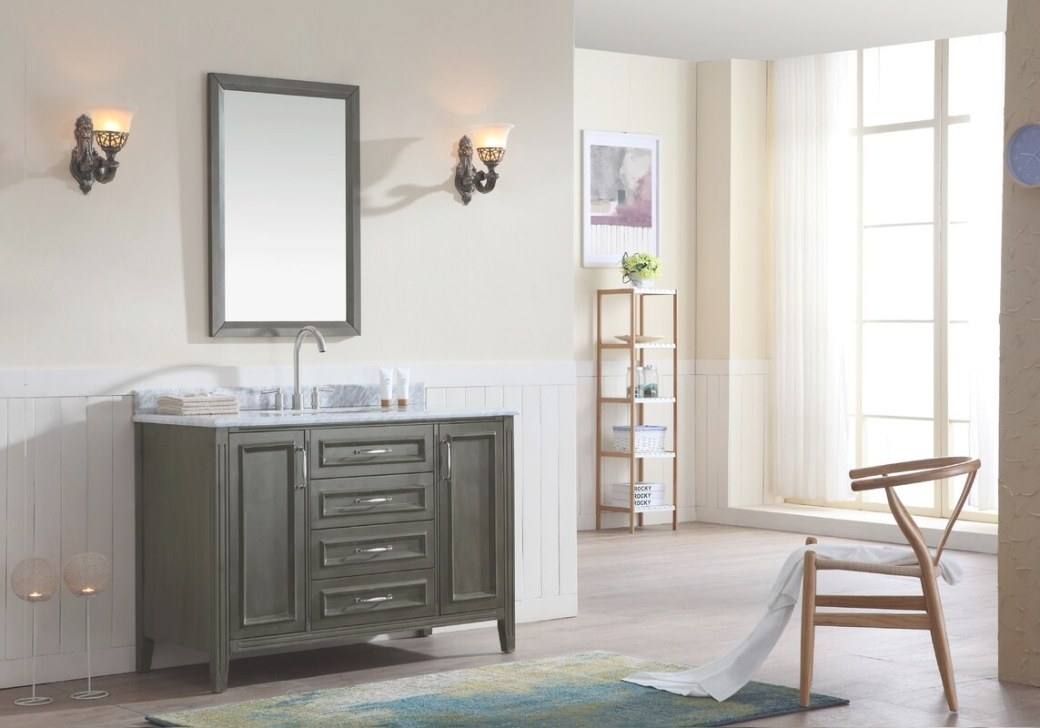 "Ari Kitchen & Bath Jude 48"" Single Bathroom Vanity Set pertaining to Bathroom Next To Kitchen"